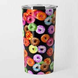 Multicolored Yummy Donuts Travel Mug