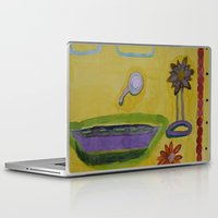 bathroom Laptop & iPad Skins featuring The Yellow Bathroom by Heidi Capitaine