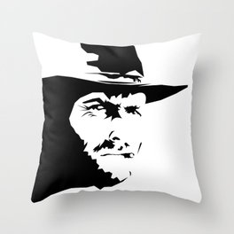 Blondie ( Clint Eastwood ) Throw Pillow