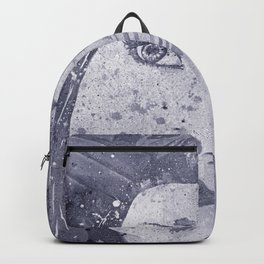 Lack Of Interest: Silver (graffiti dark lady with daisies) Backpack