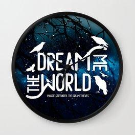Dream me the world v2 Wall Clock