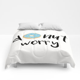 Donut Worry Blue Comforters
