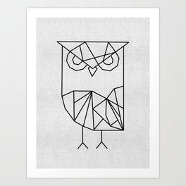 Owl Graphic Art Print