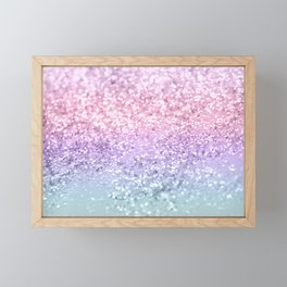 Unicorn Girls Glitter #1 #shiny #pastel #decor #art #society6 Framed Mini Art Print