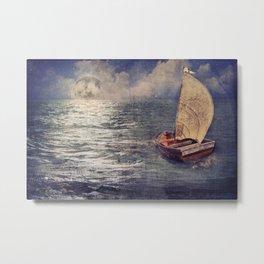 Sail to the Moon Metal Print