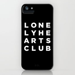 Lonely Hearts Club - 4 Arrangement - Black iPhone Case