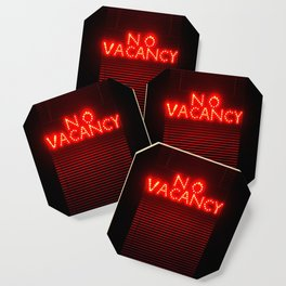 No Vacancy sign in red Coaster
