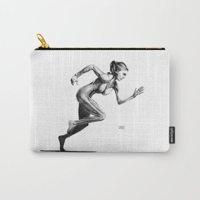 Running Skeleton Girl Carry-All Pouch