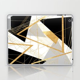 Black and Gold Geometric Laptop & iPad Skin