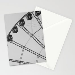 Black and White Wheel Stationery Cards