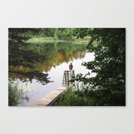 Camp Lake Canvas Print