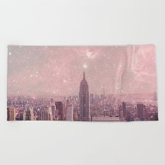 Stardust Covering New York Beach Towel