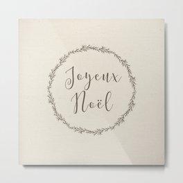 joyeux noel Metal Print