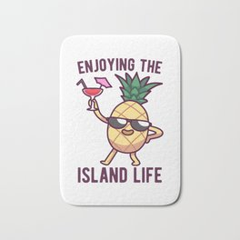 Pineapple Island Cocktail Party Gift Bath Mat