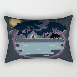 Night Camping Rectangular Pillow
