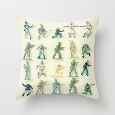 Broken Army Throw Pillow