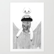 Whiteout/The state Art Print