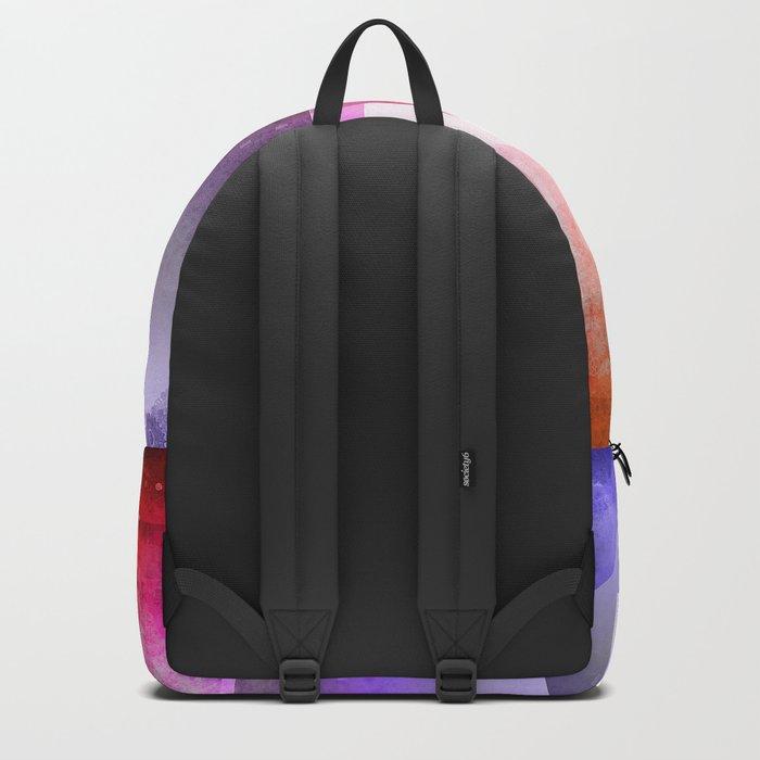 Colorful night digital illustration Backpack