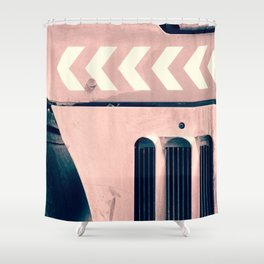 Road Roller Chevron - Industrial Abstract (everyday 17.01.2017) Shower Curtain