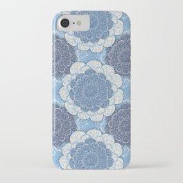 Lacy Blue & Navy Mandala Pattern  iPhone Case