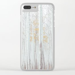 White tree forest Clear iPhone Case