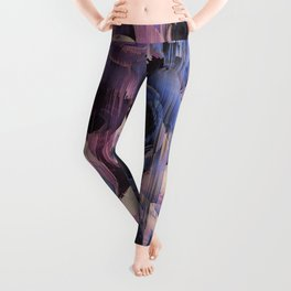 Floral Glitches Leggings