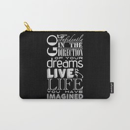 Henry David Thoreau Dreams Quote Carry-All Pouch