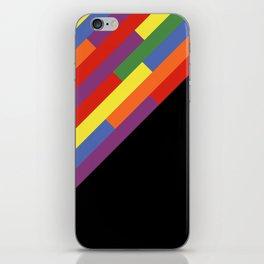 Diagonal rainbow stripes iPhone Skin