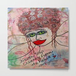Fairy Art Mother Metal Print