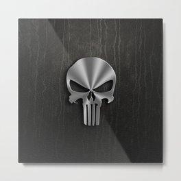 IRON SKULL Metal Print