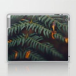 Fern Leaf Orange Accents Laptop & iPad Skin