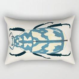 Blue beetle insect Rectangular Pillow