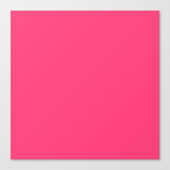 Intensively Pink Canvas Print