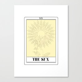 the sun tarot card Canvas Print