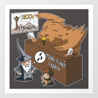 middle earth Art Prints featuring Middle Earth Travels by souldroid