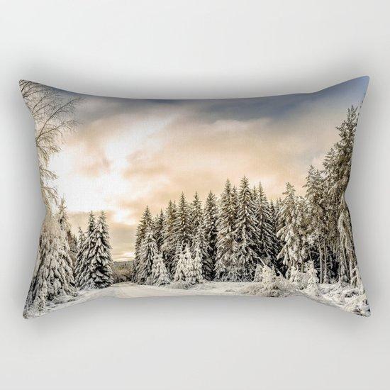 Winter Road #photography #society6 Rectangular Pillow