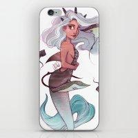 gemini iPhone & iPod Skins featuring Gemini by Laia™