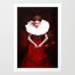 The Queen of Hearts Art Print