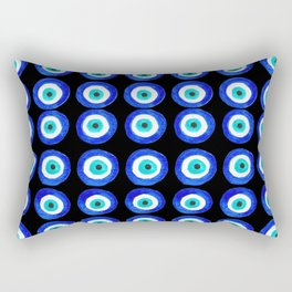 Evil Eye Amulet Talisman - on black Rectangular Pillow