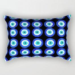 Evil Eye Amulet Talisman - on black Rectangular Pillow
