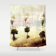 tree - air baloon Shower Curtain