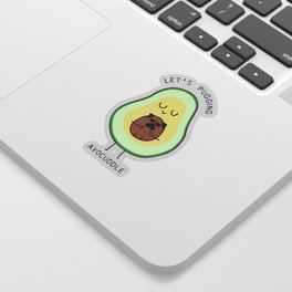 LET'S PUGGING AVO- CUDDLE Sticker
