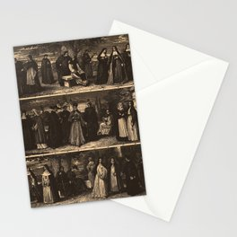 Iconographic Encyclopedia of Science, Literature and Art (1851) - Monks and Nuns Stationery Cards