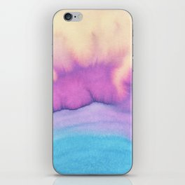Modern pink purple teal colorful watercolor pattern iPhone Skin