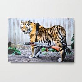 Militant Tiger Metal Print