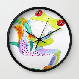 Elgar, The Red-Eyed Tree Frog Wall Clock
