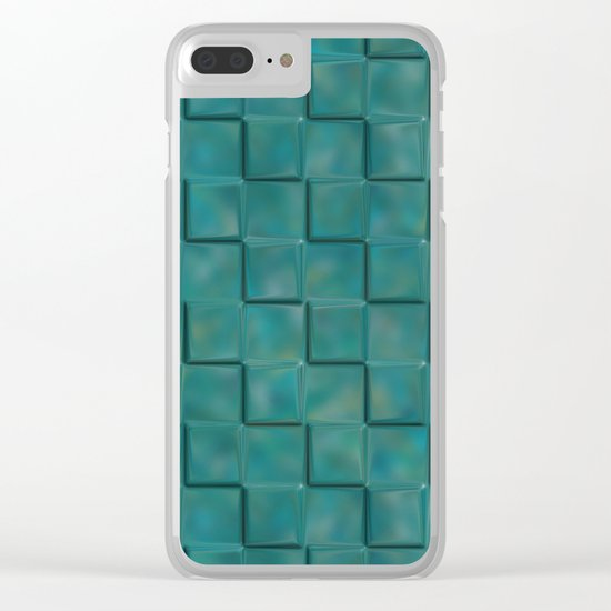 Trippy Tiles Clear iPhone Case