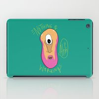cyclops iPad Cases featuring Beardy Cyclops by Chelsea Herrick