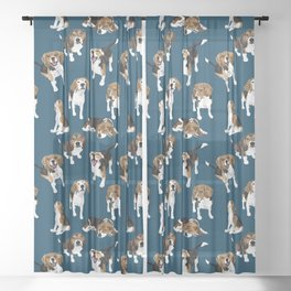 Beagle Sheer Curtain