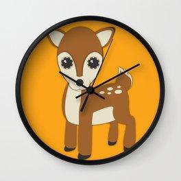 Forest Deer Nursery Set Wall Clock